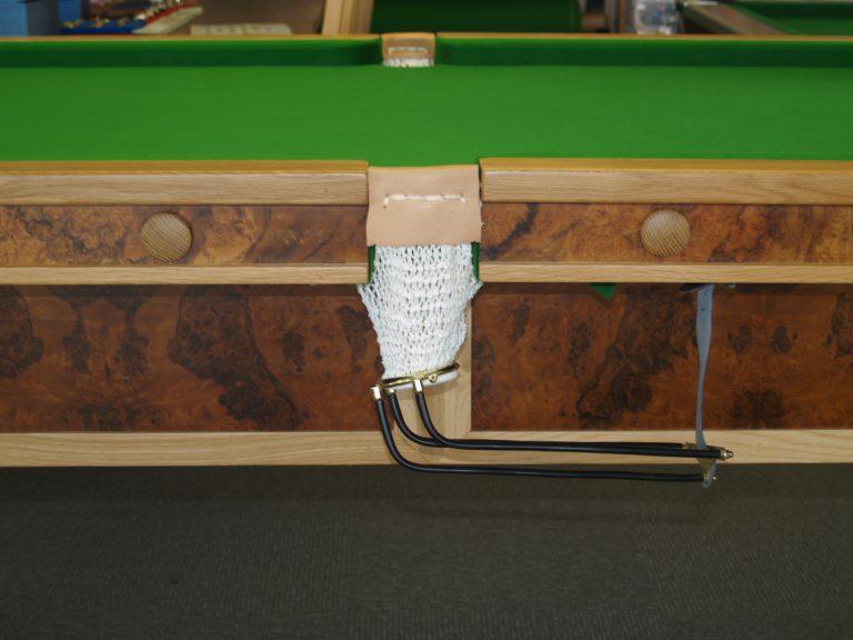 8ft Oak & Walnut Reconditioned Table - pocket