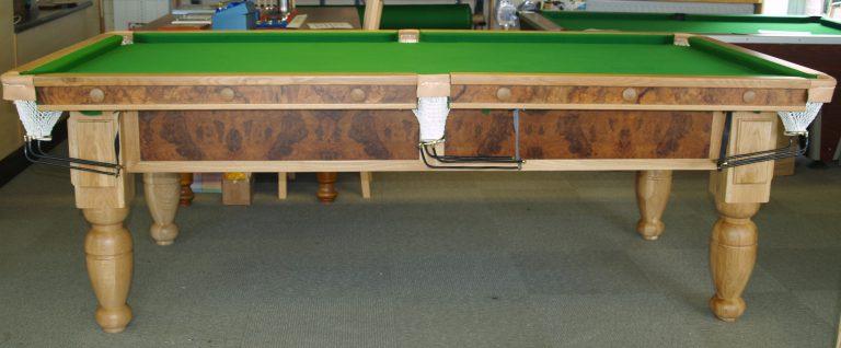 8ft Oak & Walnut Reconditioned Table - side