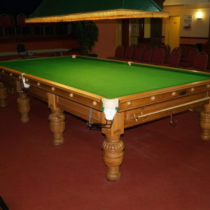Burroughs and Watts Oak Snooker Table