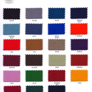 Hainsworth smart cloth samples for snooker tables