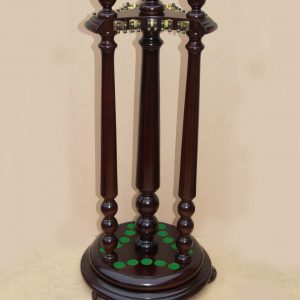 Reproduction Circular Cue Rack with Clips